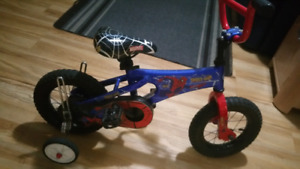 Kids Spiderman bicycle for sale - 3-5 year old