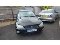 Lexus IS 200 2.0 stunning in black very good condition for year low mils 98k fsh