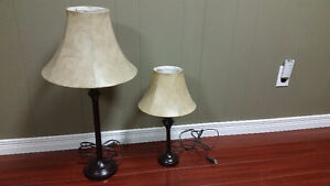 Set of 3 End Table Size Lamps