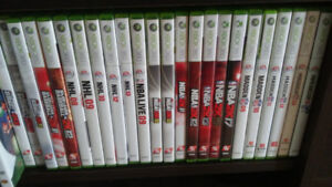 SPORTS PACKAGE (total of 22 xbox 360 sports games)