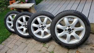 Mini Cooper Alloy Wheels and Snow Tires