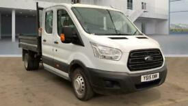 2015 15 FORD TRANSIT DROPSIDE TIPPER DOUBLE CAB / CREW CAB 6 SPEED 125 TDCI WITH