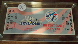 Toronto Blue Jays 1989 First Skydome Game Ticket