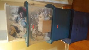 12 bins of baby boy clothes, shoes, babybag, snowsuit..etc.