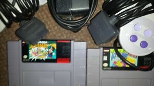 SUPER  NINTENDO  GAMES  &  CONTROLLERS & WIRES