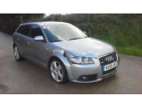 Audi A3 2.0TDI Sportback DSG 2005 S Line DAMAGED SPARES OR REPAIR SALVAGE