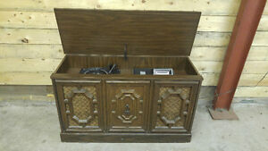 Vintage Floor Model Stereo with 8 Track and Turntable