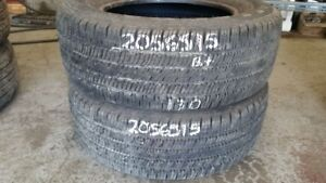 Pair of 2 Goodyear Allegra 205/65R15 tires (75% tread life)