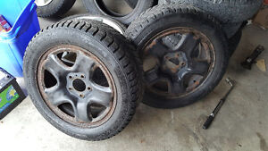 16 in winter tire's with 5 star steel rims