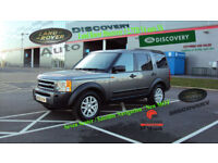 2008 LAND ROVER DISCOVERY 3 GREY DIESEL 7 SEATER 2.7TD V6 auto XS