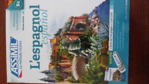 Cours d'espagnol Assimil, coffret cahier d'exercice, clé USB, Mp