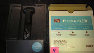 "Stampin Up Stamp Positioner ""Stamp-a-ma-jig"" Scrapbooking Card"
