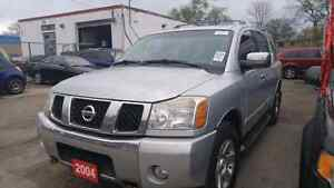 2004 nissan armada fully loaded cert and etest $4995