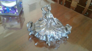 Rare antique Welsh Brothers silver jewelry box
