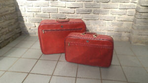 VINTAGE VINYL TRAVEL LUGGAGE