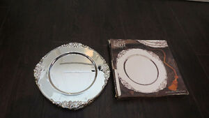 8 20th Century Baroque By Godinger Silver Plated Plates