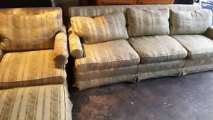 GREEN COUCH SET. DELIVERY IS EXTRA