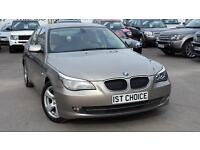 2008 BMW 5 SERIES 520D SE CHAMPAGNE METALLIC BEIGE LEATHER JUST 65000 MILES