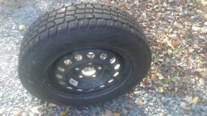 """15"""" studded winter tires with rims (Elantra)"""