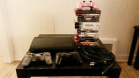 PS3 Super Slim [500GB] w/ 3 controllers + 19 games