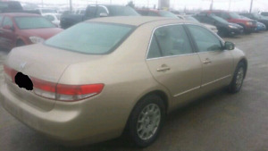 Honda Accord with Winter tire in $1999