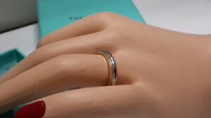 "HUGE SALE***Platinum & 18KT Yellow Gold  ""Tiffany"" Wedding Band"