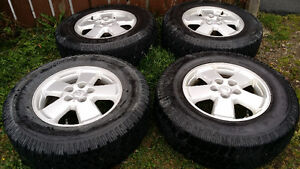 16 ALUMINUM RIMS WITH LT225 75 16 TRACTION KING TIRES 5X114.3 St. John's Newfoundland image 1