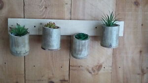 Bamboo herb pots