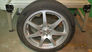 Winter Tire/Steel rims & Mag rims with summer tire for sale Kingston Kingston Area image 1