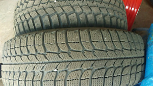 4 GOOD condition winter tires ON rims/// Marshall tires