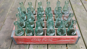 Coca cola crate and bottles