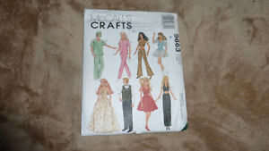 """McCall's crafts Pattern 9663 for 11 1/2"""" & 12 1/2"""" dolls"""