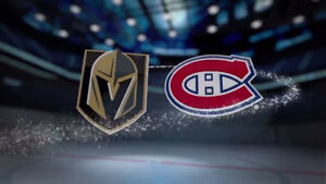 2 Tickets - Vegas Golden Knights at Montreal Canadiens Nov 10