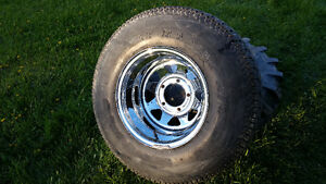 4  31x10.5 15 Radials on Chrome rims fit Ford or Jeep