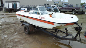 1976 Vanguard Trihull Tristar Open Bow Boat, with 50HP Evinrude