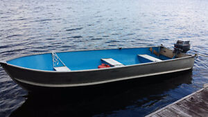 14 Ft Aluminum Boat with 9.9 HP Yamaha Motor