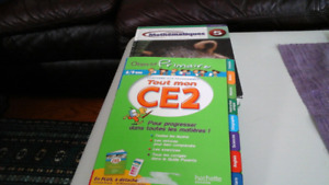 Two French Math Books for Grade  5,   8-10 yrs   Great condition