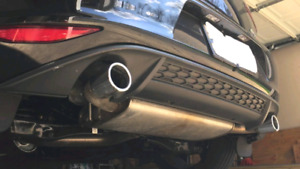 MK7 Volkswagen GTI, OEM muffler, rear diffuser and rear sway bar