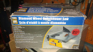 New 7 inch tile saw benchmount