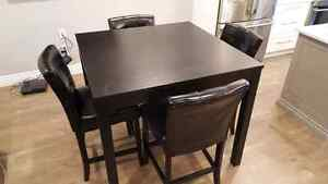 Bar height table with chairs