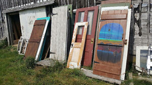 A collection of antique doors