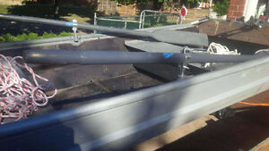 Aluminium  9 Ft Boat complete with paddles and anchor