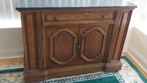 French Antique Serving Table Side Board