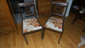 2 matching antique chairs