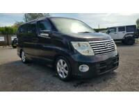 Nissan Elgrand 2.5 automatic 8 seater black MPV 2wd +4wd fresh import 06