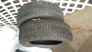 winter tires two different sizes