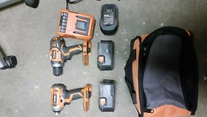 Ridgid 18v drill and driver combo