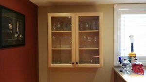 Beautiful glass cabinet for sale Cambridge Kitchener Area image 1