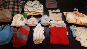 Newborn to 3 months baby boy twin clothing
