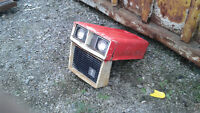 antique cub cadet lawnmower hood with cast iron grill